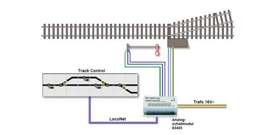 uhlenbrock 69030 track control analog alle modellbahn katalog. Black Bedroom Furniture Sets. Home Design Ideas