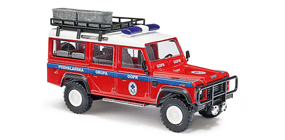 busch 50381 land rover defender notdienst rettung h0 modellbahn katalog. Black Bedroom Furniture Sets. Home Design Ideas