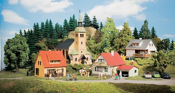 Auhagen Startset Dorf Waldkirchen Häuser TT